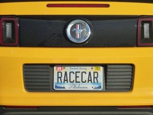 Race Car Plate